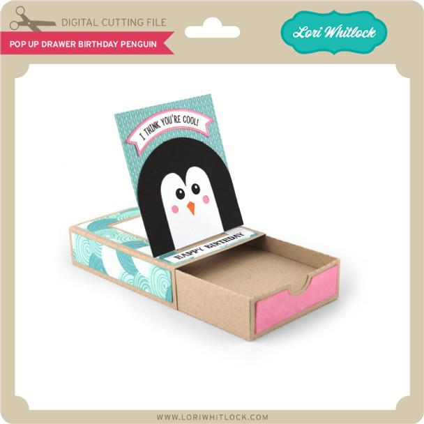 Pop Up Drawer Birthday Penguin