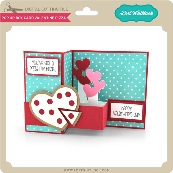 Pop Up Box Card Valentine Pizza