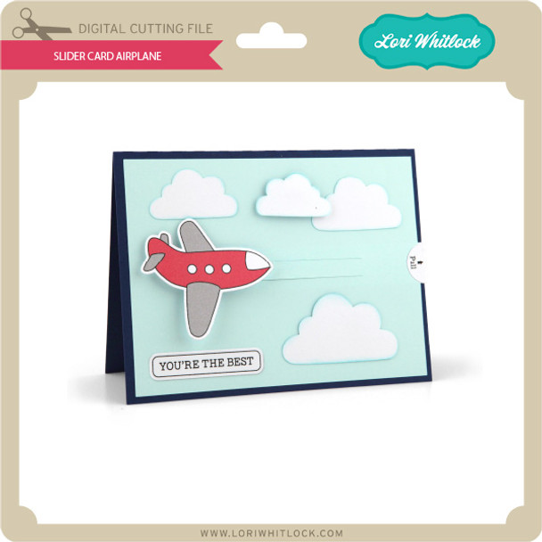Slider Card Airplane