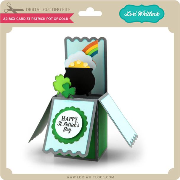A2 Box Card St Patrick Pot of Gold
