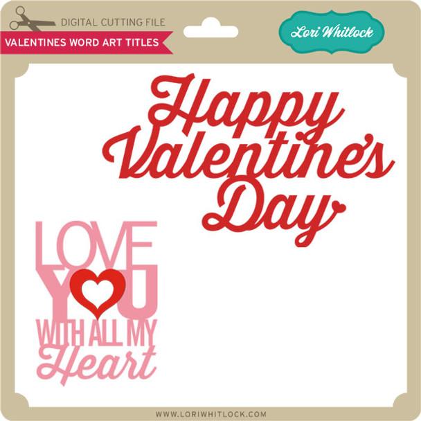 Valentine Word Art Titles