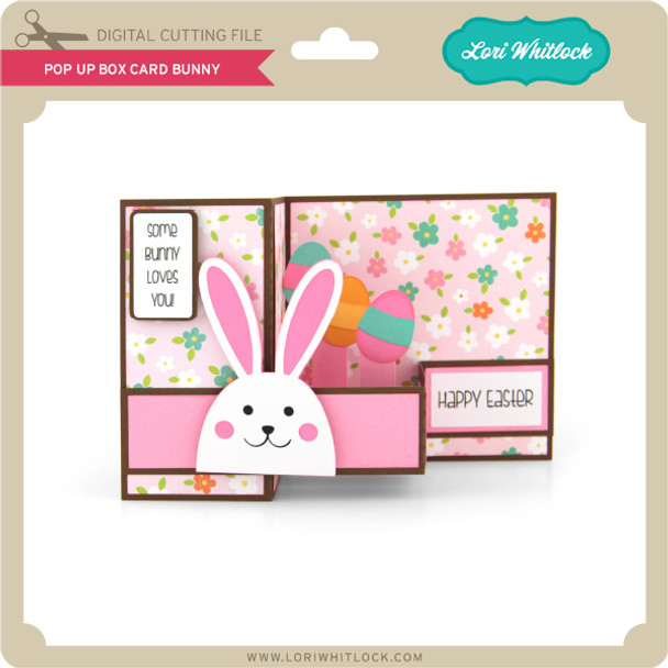 Pop Up Box Card Bunny