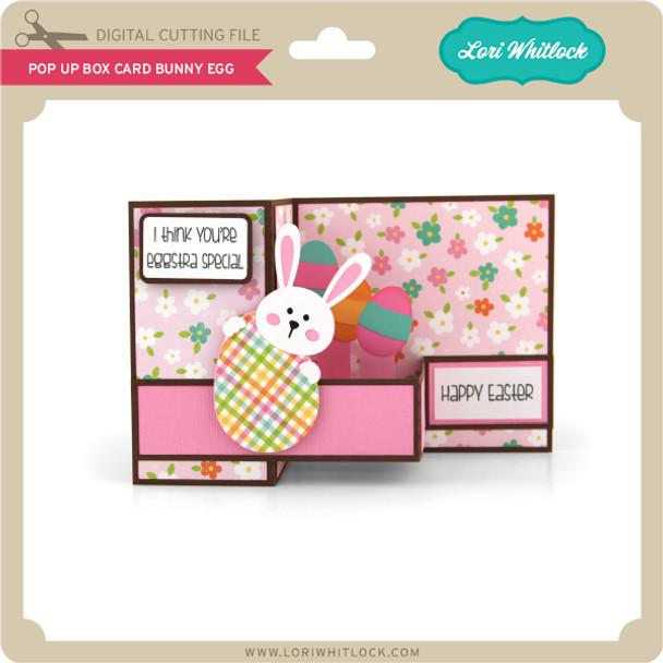 Pop Up Box Card Bunny Egg