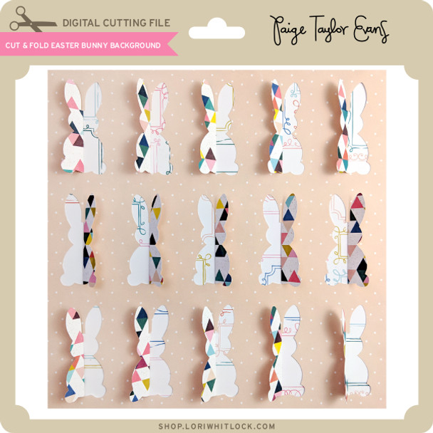 Cut & Fold Easter Bunny Background