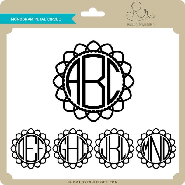 Monogram Petal Circle