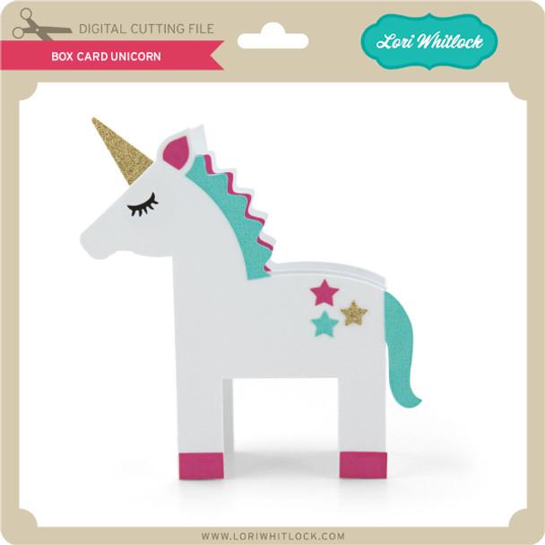 Box Card Unicorn