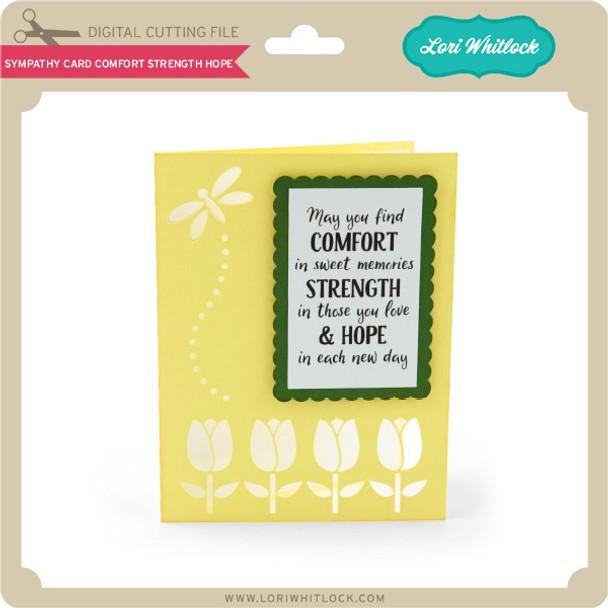 Sympathy Card Comfort Strength Hope