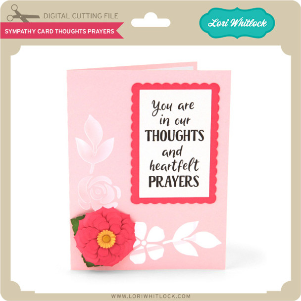 Sympathy Card Thoughts Prayers