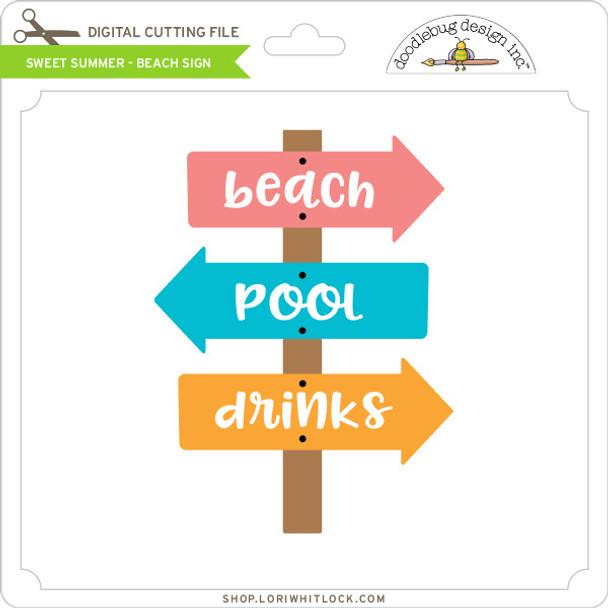 Sweet Summer - Beach Sign
