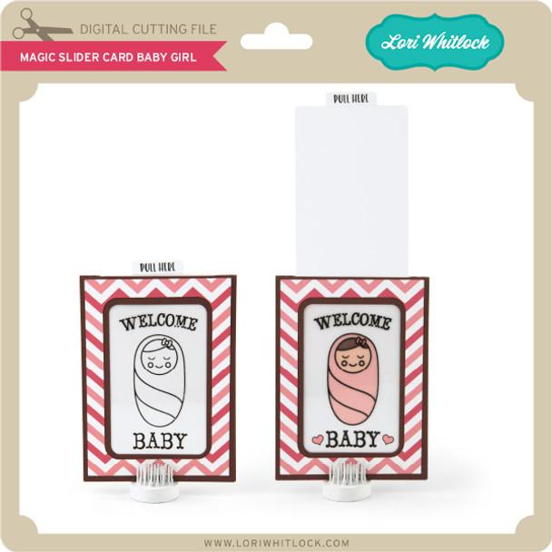 Magic Slider Card Baby Girl