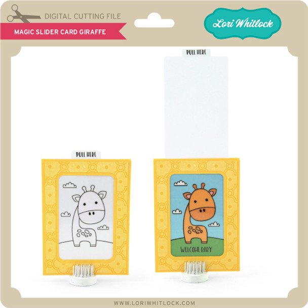 Magic Slider Card Giraffe