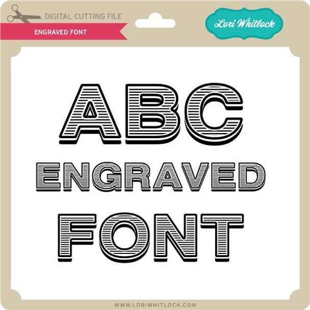 Engraved Font