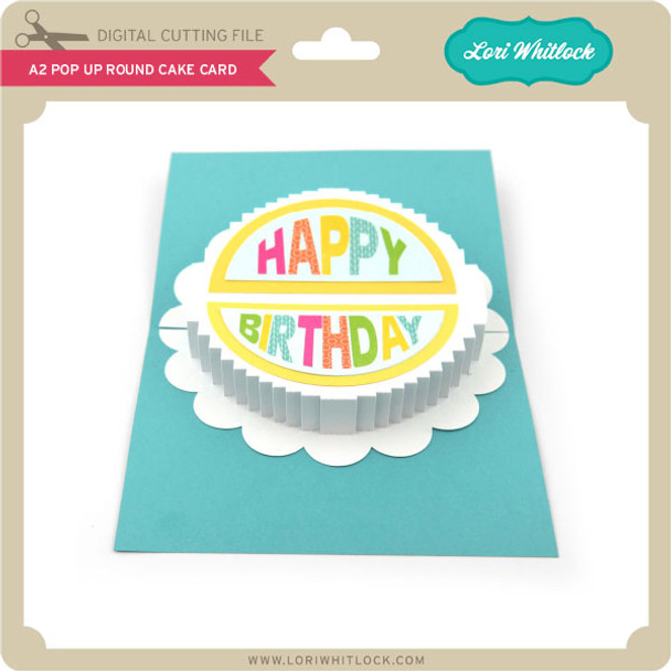 A2 Pop Up Round Cake Card