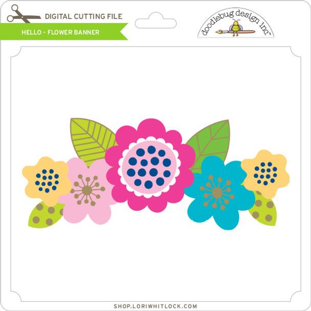 Hello - Flower Banner