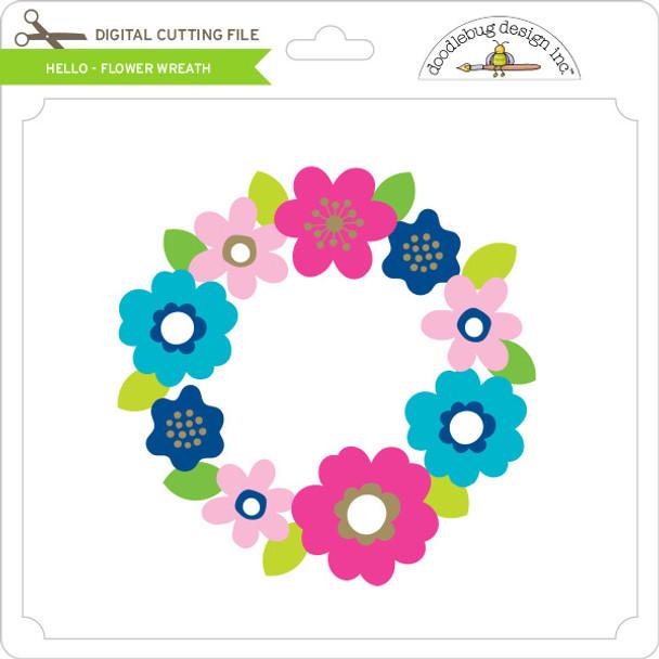 Hello - Flower Wreath