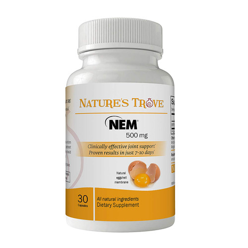 Natural Eggshell Membrane (NEM) 500mg Vegetarian Capsules by Nature's Trove
