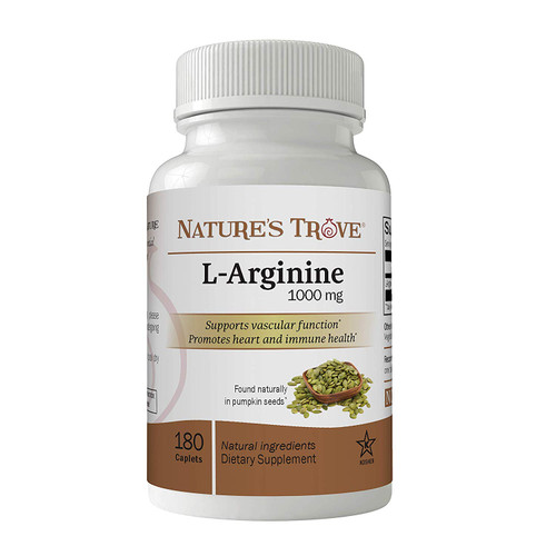 L-Arginine HCl 1000mg Caplets by Nature's Trove