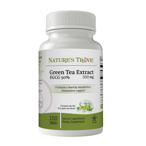Green Tea Extract 500mg EGCG 50% by Nature's Trove