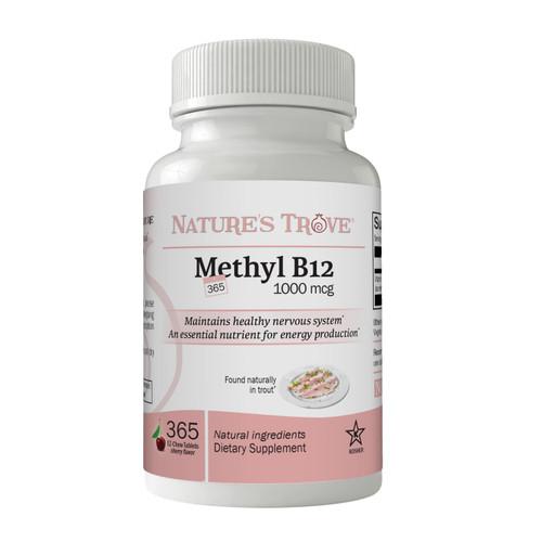 Vitamin B12 Methylcobalamin by Nature's Trove
