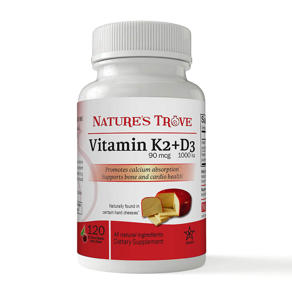 Vitamin K2 with D3 EZ Chew Tablets by Nature's Trove