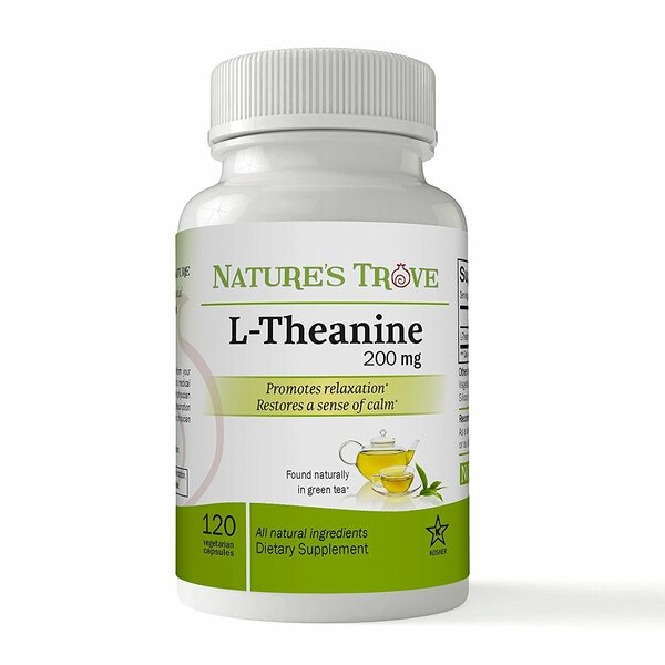 L-Theanine 200mg Vegetarian Capsules by Nature's Trove
