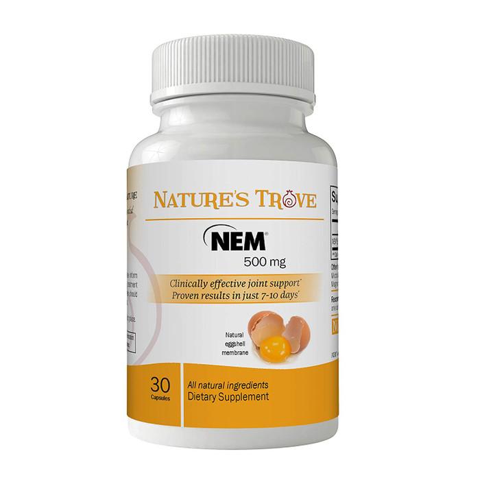 Natural Eggshell Membrane (NEM) 500mg Vegetarian Capsules by Nature's Trove