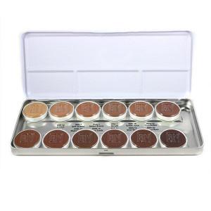 Olive-Brown Matte HD Foundation Palette - 12 Color