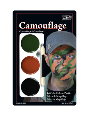 Camouflage - Tri-Color Character Makeup Palette