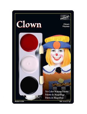 Clown - Tri-Color Character Makeup Palette