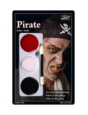 Pirate - Tri-Color Character Makeup Palette