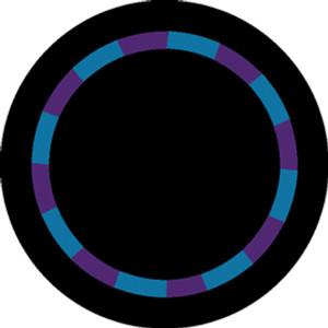 Purple/Teal Color Swirl