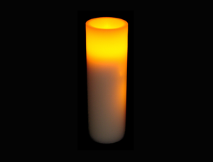 9″ LED Wax Pillar Candle