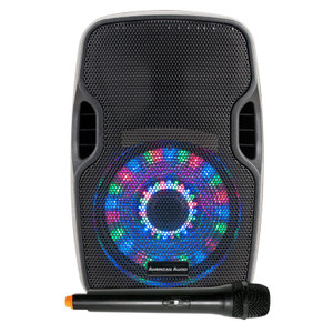 "ELS 8GO LTW 8"" Battery Powered Rechargable Speaker with WirelessVHF Hand Held Microphone"