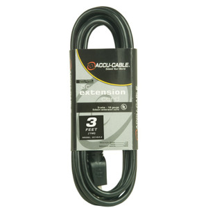 Black Cable - 10' - 16 Gauge
