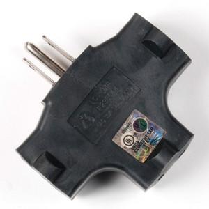 EC-3FER Edison Tri-Tap Power Adapter (Black)