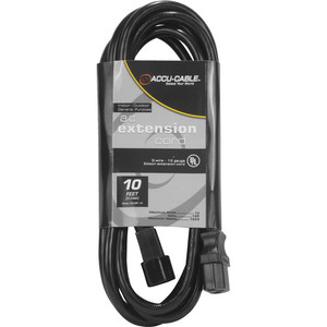 Accu-Cable Indoor-Outdoor General Purpose IEC Extension Cord (10')