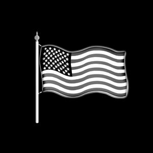 Flag and Staff
