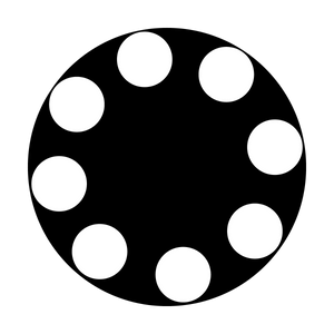Dots in Circle- Large