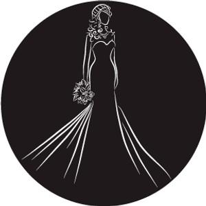 Bride Silhouette w/ Bouquet