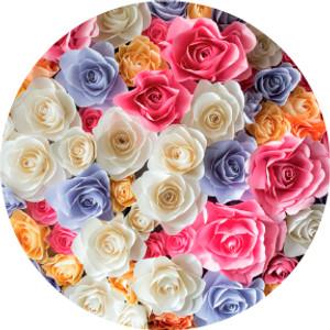 Bright Colors Rose Bouquet