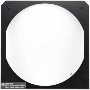 D22 Very Narrow Round Diffuser in frame, White