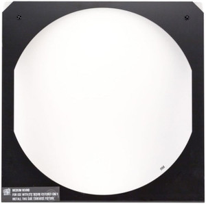 D22 Narrow Round Diffuser in frame, White