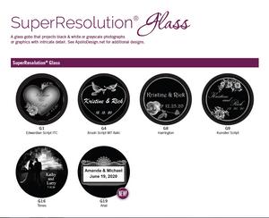 Apollo Custom SuperResolution® Glass Wedding Gobo