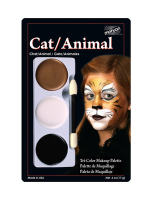 Cat/Animal - Tri-Color Character Makeup Palette