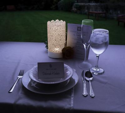 Warm White Lace Votive Candle