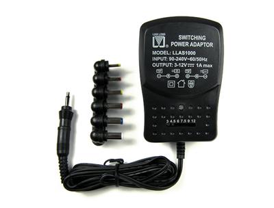 Regulated Switching Power Adapter 3v-12V