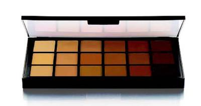 MatteHD Foundation Olive-Brown 18-color Palette