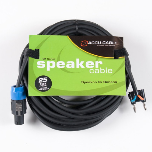 Speaker Cable - Speakon To Banana