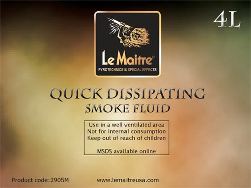 Quick Dissipating Smoke/Fog Fluid