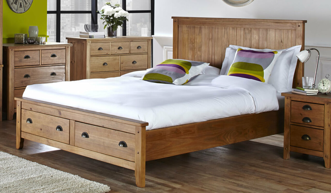 Picture of: Wild Coast 2 Drawer Wooden Bed Frame Bensons For Beds